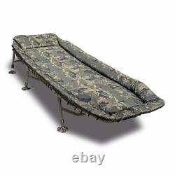 New Solar Tackle Undercover Camo Bedchair CA02 Carp Fishing Equipment