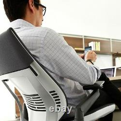 New Steelcase Gesture Chair Adjustable Cogent Connect Shell Black Frame Nickel