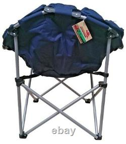 Outback Folding Club Camp Chair Most Comfortable Padded Roomy Strong Camping