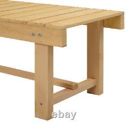 Outdoor Garden Bench Patio Loveseat Fir Solid Wood 2 Person Water-Resist 1.1m