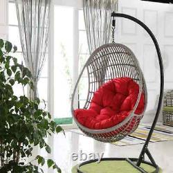 Outdoor Indoor Papasan Cushion Garden Rattan chair Mat Hanging Swing Egg Chair
