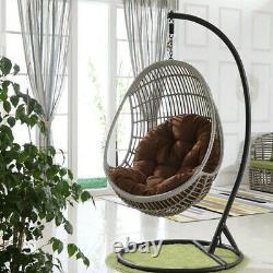 Outdoor Indoor Papasan Garden Rattan chair Mat Hanging Swing Egg Chair Cushion