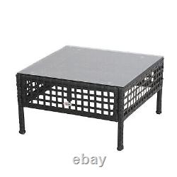 Outsunny Outsunny Rattan Coffee End Table Garden Outdoor Furniture Square Wicker