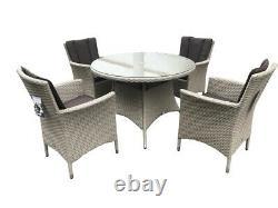 Pagoda Portofino 6 Seat Rattan Garden Furniture Dining Set outdoor new