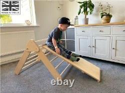 Pikler triangle toddler climbing frame & slide/ladder attachment fully assembled