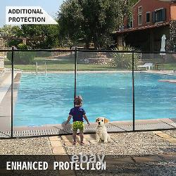 Pool Fences4'x12'In-Ground Swimming Pool Safety Fence Section Prevent Accidental