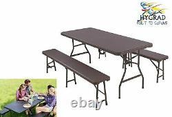 Portable Folding Camping Picnic Table & Chair Bench Set Outdoor Garden Patio BBQ