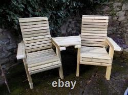 Pressure Treated Garden Chairs Love Seat Wooden Loveseat Tanalised Wood Jack&Jil