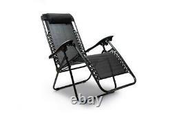 Reclining Garden Chair Zero Gravity Sun Lounger Deluxe Patio Furniture Sun Bed