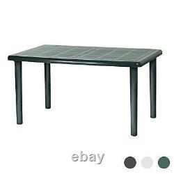 Rectangular Garden Table Resol Olot Plastic Outdoor Bistro Dining 140x90cm Green