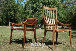 Sam Maloof Low Back Dining Chair / handcrafted luxury wooden furniture