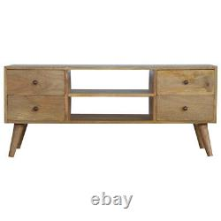 Scandinavian Nordic Style TV Stand Media Unit With Four Drawers