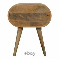 Scandinavian Rounded Bedside Table Cabinet / Side Table Mid Century Retro Style