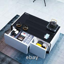 Smart Touch Coffee Table Refrigerator Drawers Bluetooth Speakers USB Charger