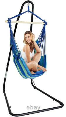 Sorbus Adjustable Hanging Hammock Chair Swing & Stand, 1 Person, 330 Pound Capa