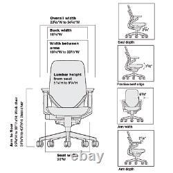 Steelcase Gesture Adj Headrest Task Desk Chair Black Frame Buzz2 Black Fabric