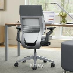 Steelcase Gesture Chair Adjustable Cogent Connect Shell Black Frame Tangerine
