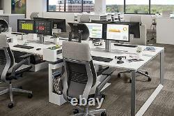 Steelcase Gesture Chair Adjustable Lumbar Headrest Platinum Light Frame Graphite