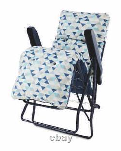 Sun Lounger Reclining Recliner Chairs Outdoor Garden Patio Relaxer Cushion New