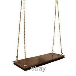 Swing Indian Handmade Love Seat Wooden Ceiling Swing Metal chain solid wood