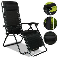 Textoline Reclining Folding Chair Sun Lounger Beach Bed Garden Recliner Camping