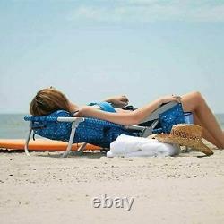 Tommy Bahama Backpack Beach Folding Chair Blue, Green, Flower, Pineapple