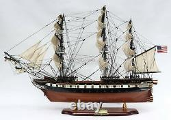 Uss Constellation Tall Ship Fully Assembled Wooden Ship Model