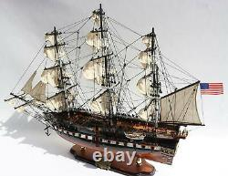 Uss Constitution Tall Ship Fully Assembled Wooden Ship Model