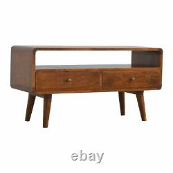 Vintage TV Stand Modern Scandinavian Style Solid Wood TV Cabinet Danish Style