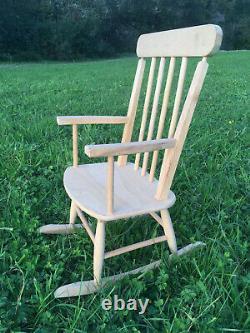 Wooden Children Rocking Chair Kid's Room Armchair 74cm High
