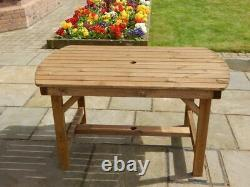 Wooden Garden Furniture 4 Ft 6 Inch Patio Table Delivered Fully Assembled