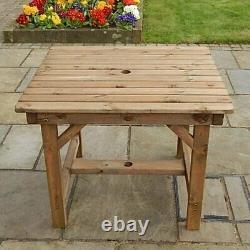 Wooden Garden Furniture Premium 3ft Table Delivered Fully Asse