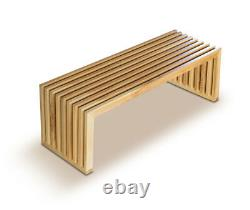 Wooden Oak bench, oak seating bench, bench solid wood, wooden seat. Length 122cm