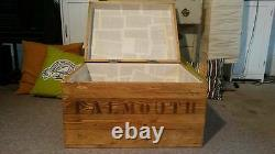 Wooden Trunk Chest Blanket Box Coffee Table Rustic Style TV Stand Storage
