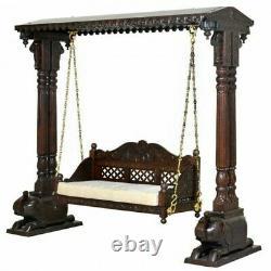 Wooden swing handmade love seat solid wood indoor swing out door swing