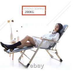 Zero Gravity Chair Sun Lounger Outdoor Garden Folding Reclining Adjustable